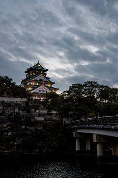 Kasteel van Osaka in de avond van Mickéle Godderis