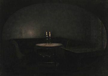Inneres. Künstliches Licht, Vilhelm Hammershøi
