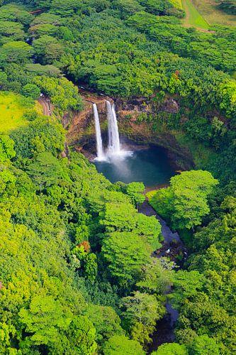Wailua Falls, Kauai, Hawaii van Henk Meijer Photography