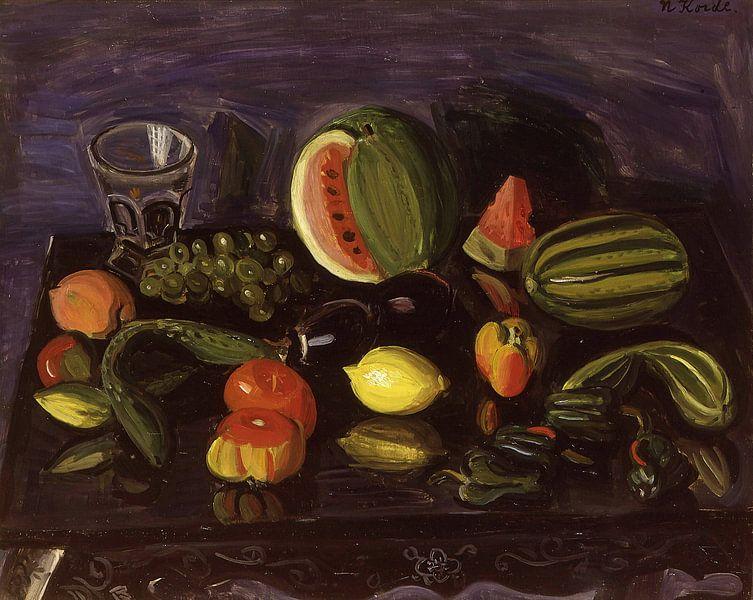Narashige Koide~Stilleben mit Gemüse von finemasterpiece