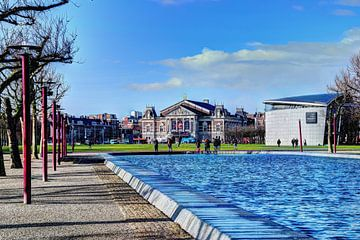 Museumplein Van Gogh Museum Concertgebouw Winter Amsterdam von Hendrik-Jan Kornelis