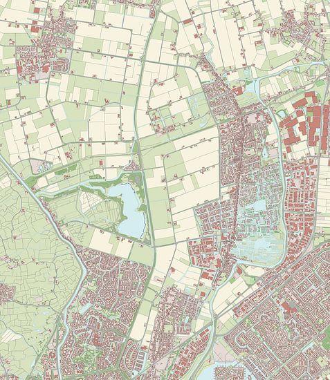 Kaart vanLangedijk van Rebel Ontwerp