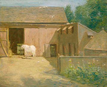 New England Barnyard, Julian Alden Weir