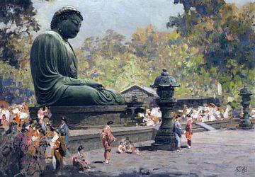 De grote Boeddha (Daibutsu) in Kamakura, Japan, ERICH KIPS, ca. 1928 van Atelier Liesjes