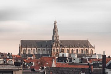 Haarlem: St. Bavo  skyline. van Olaf Kramer