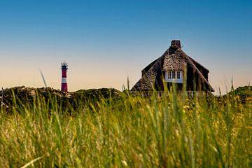 Huis met rieten dak op Sylt van Gerwin Schadl