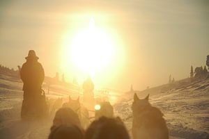 Zweedse zonsondergang van