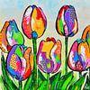Tulpen uit Amsterdam van Vrolijk Schilderij thumbnail