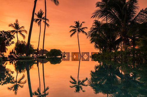 Tropical sunrise on Koh Samui van