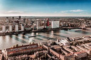Skyline Rotterdam van Nuance Beeld