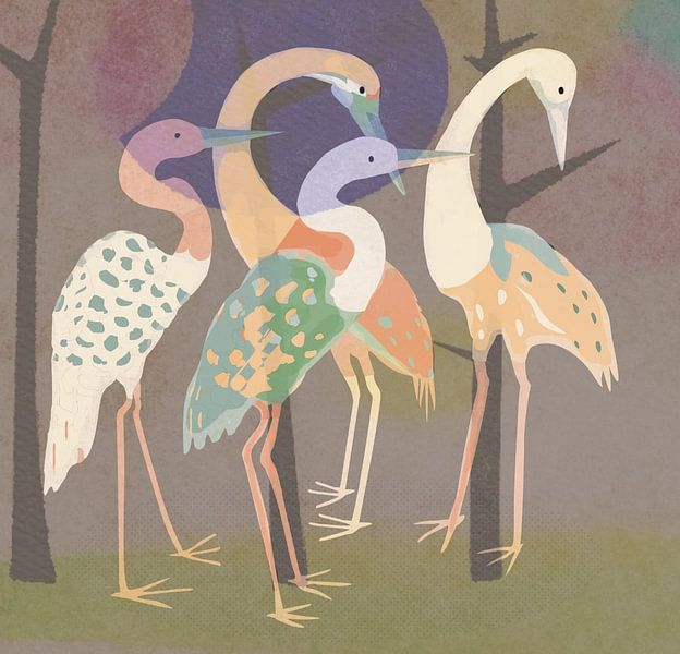 Frühlingsfest-Kraniche von Rudy & Gisela Schlechter