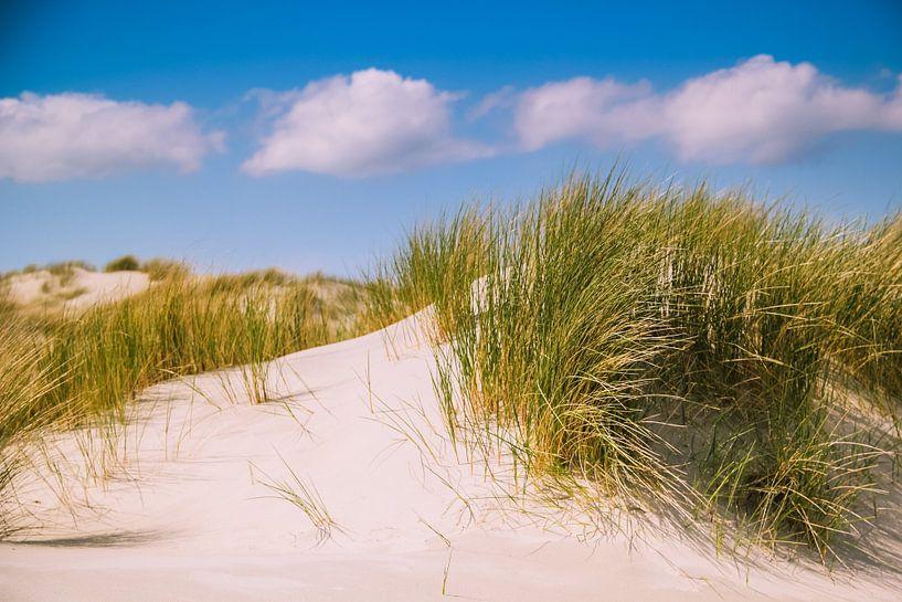 Duinen en wolkenlucht (Holland) van ErikJan Braakman
