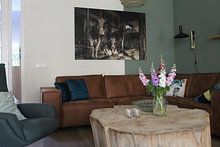 Kundenfoto: Kuhe im alten Kuhstal von Inge Jansen, auf leinwand