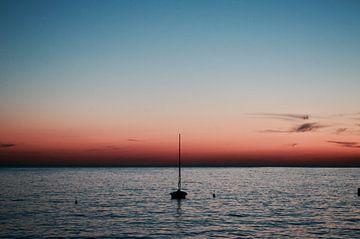Zonsondergang in Kroatië van Mike Landman