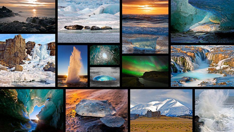 Collage IJsland van Anton de Zeeuw