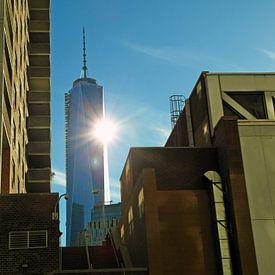Empire State Buiding New York stemmig met zon en beton van Anne Hana