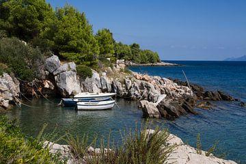 Klein haventje op eiland Hvar, Kroatie von Maike Meuter