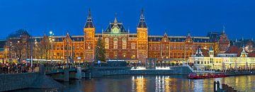 Panorama Amsterdam Centraal station van Anton de Zeeuw