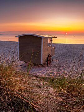 Zwemwagen aan het strand van Scharbeutz aan de Oostzee van Fine Art Fotografie