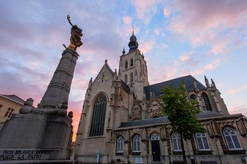 Sunset in Tienen sur Bert Beckers