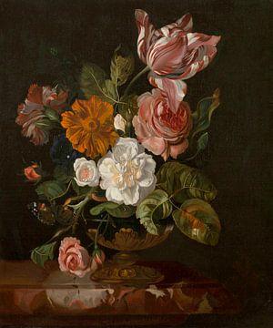 Bloemen in een vaas, Rachel Ruysch