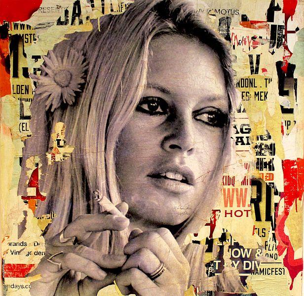 Brigitte Bardot ist das Rauchen von Michiel Folkers