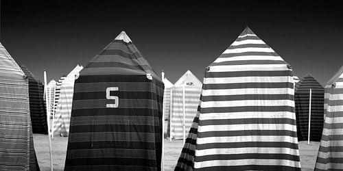 Strandtenten (zwart-wit)