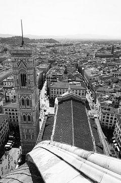 Zicht vanaf de Duomo in Florence van Chantal Koster