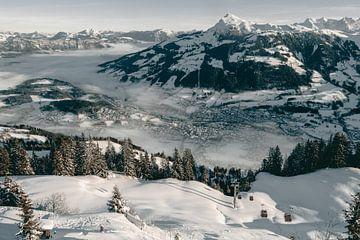 Kitzbüheler Horn in de sneeuw van Sophia Eerden