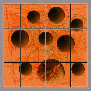 Fractal - bollen - cirkels van Christine Nöhmeier