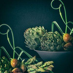 Vijgen met groene groente van Monique van Velzen