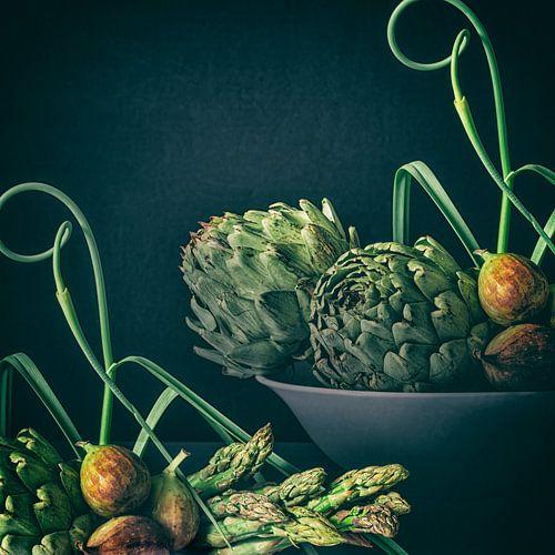 Vijgen met groene groente