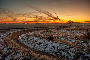 Landelijke zonsopkomst van