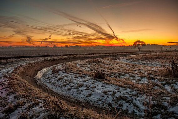 Landelijke zonsopkomst