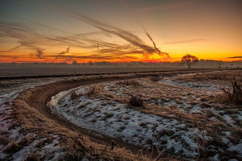 Landelijke zonsopkomst van Robbie Veldwijk