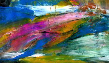 """Abstract """" het leven is mooi """" van Claudia Gründler"""