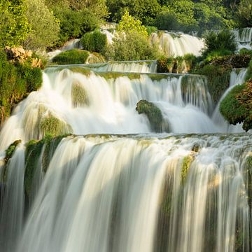 Skradinski Buk Wasserfall, Nationalpark Krka, UNESCO Weltnaturerbe, Dalmatien, Kroatien von Markus Lange