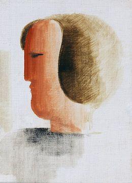 Kopf nach links, Oskar Schlemmer, 1928 von Atelier Liesjes