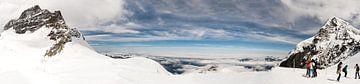 Switzerland Panorama - View from Jungfraujoch van Marion Seibt