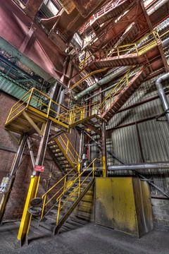 Stalen trap van Sven van der Kooi (kooifotografie)