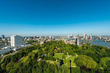 Panorama Rotterdam met de Erasmusbrug van Brian Morgan