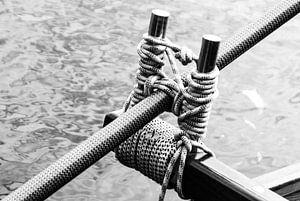 Das Langruder eines Drachenbootes