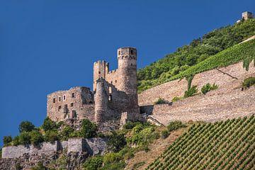 Ruine Ehrenfels bei Rüdesheim im oberen Mittelrheintal von Christian Müringer