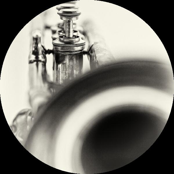 Solo... (muziek, muziekinstrument, trompet, jazz) van Bob Daalder