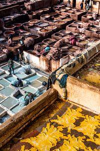 Leerlooierij in Fez van Laura
