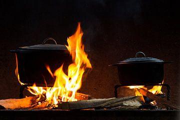 Potten op het vuur van