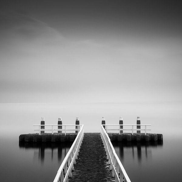 IJsselmeer zwartwit - long exposure van Keesnan Dogger Fotografie