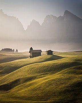 Alpage des Dolomites sur Cuno de Bruin