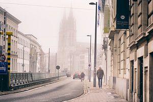 Antwerpen in de mist