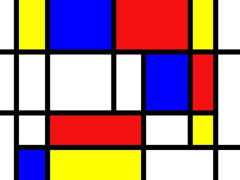 Mondriaan inspirierte die Arbeit von Atelier Liesjes